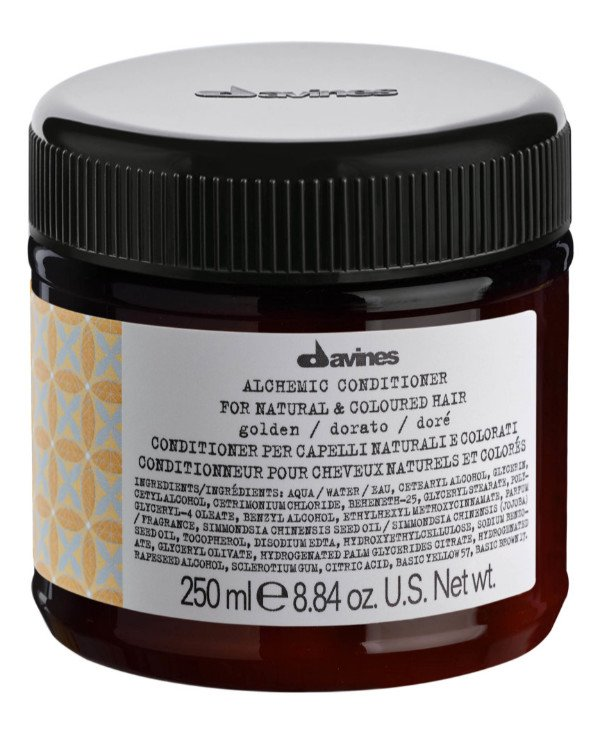 Davines - Кондиционер Алхимик Золото Alchemic Conditioner Golden For Natural And Coloured Hair Золото, 250мл