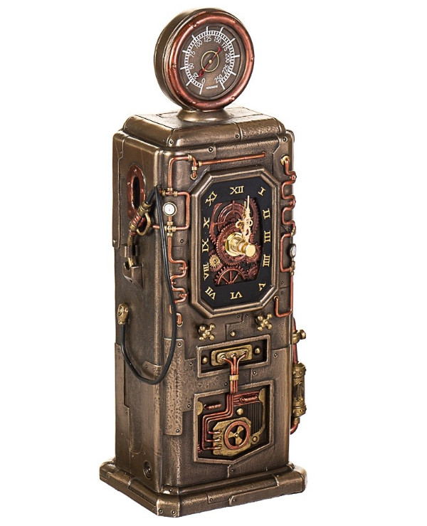 "Veronese Statuette-clock ""Gas Station"" (29cm) 
