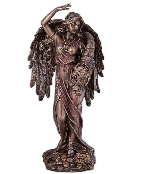 "Veronese - Figurine ""Fortune"" with wings (29cm) Ancient Roman goddess of luck Veronese Bronze"