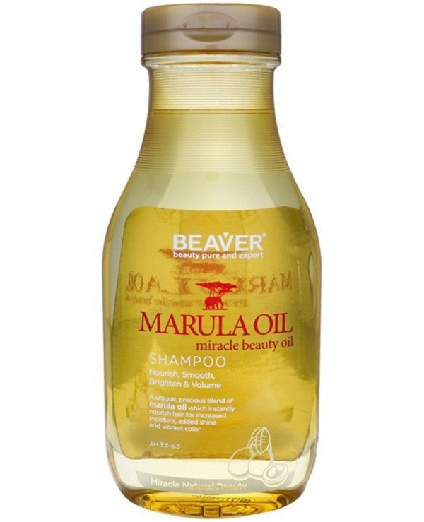 Beaver professional - Nourishing shampoo for dry and damaged hair with Marula oil Herbal Series SLS Free Nourish Marula Oil Shampoo