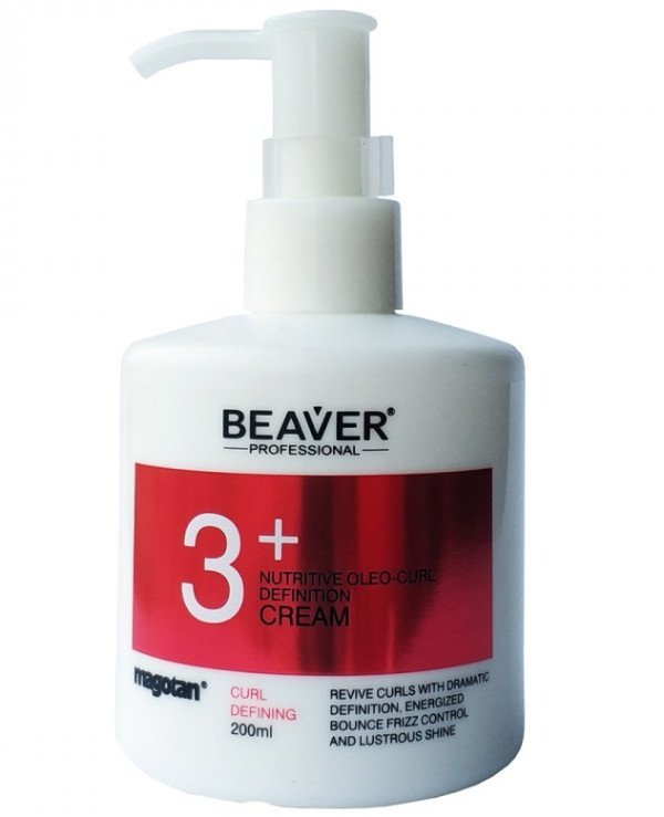 Beaver professional - Oil-based nourishing cream for highlighting strands Magotan Nutritive Oleo-Curl Definition Cream