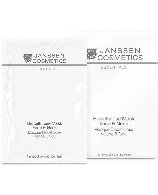 Janssen cosmetics - Biocellulose face and neck mask Collagen Fleece Masks Biocellulose Mask Face & Neck
