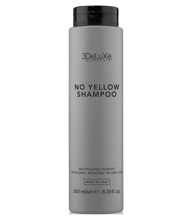 3Deluxe Professional - Shampoo to neutralize the yellowness No Yellow Shampoo