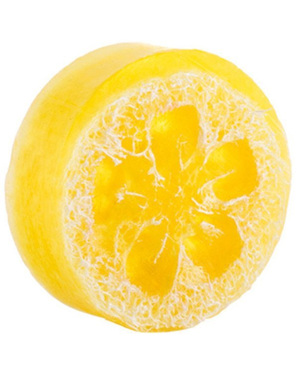 InJoy - Natural Lemon Solid Soap with Loofah  100ml