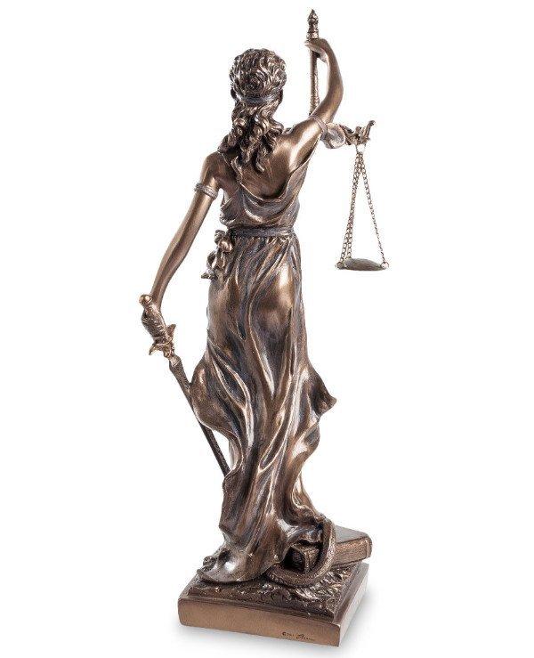 Veronese - Statuette of Themis (32 cm) Symbol of justice back