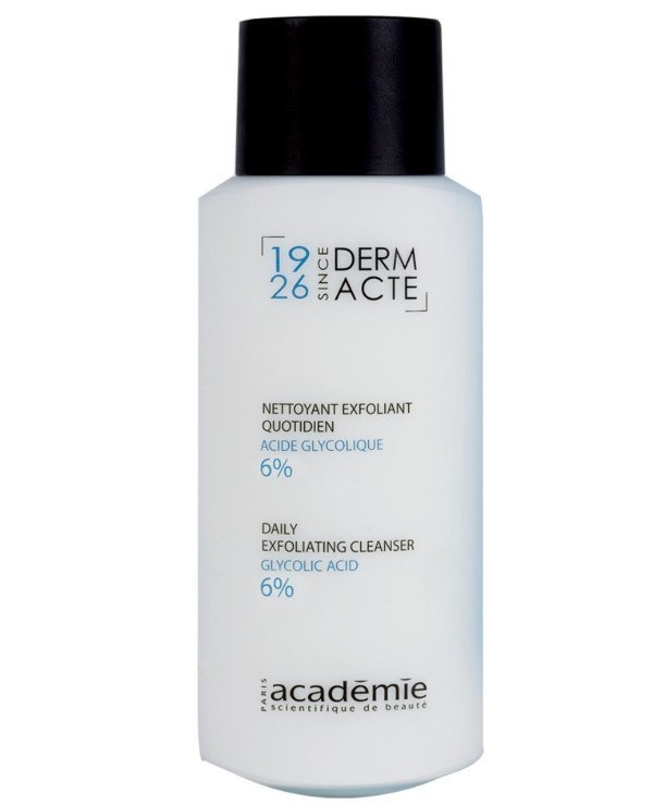 Academie - Exfoliating emulsion with glycolic acid 6% Nettoyant exfoliant quotidien acide glycolique 6% 250ml