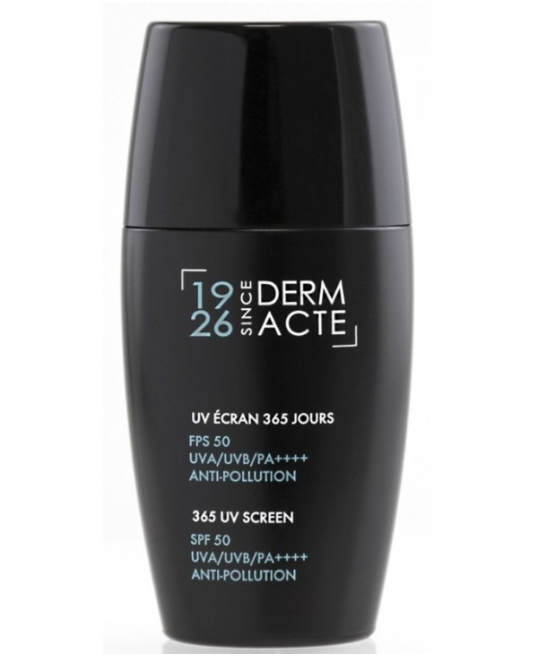 Academie - Protective cream 365 hours from pollution and ultraviolet SPF 50 Derm Acte Anti-Pollution 365 UV Screen SPF 50 UVA/UVB/PA++++ 30ml