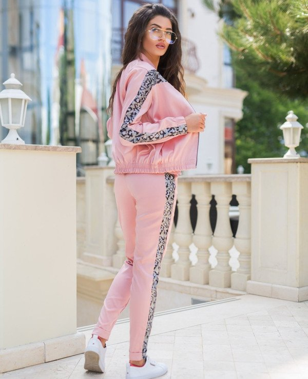 Kristina Great (van gils) - Sports suit female Cotton with sequins 860  back