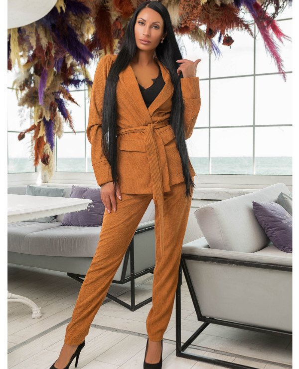 Kristina Great (van gils) - Trouser suit female classical 887 Velveteen