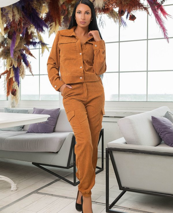 Kristina Great (van gils) - Trouser suit female classical 901 Velveteen