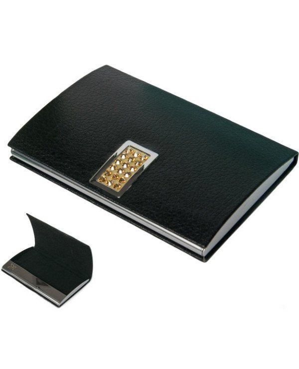 Crystocraft - Crystocraft-Black business card holder