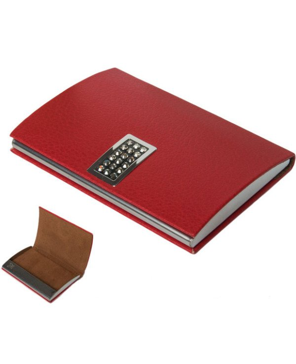 Crystocraft - Crystocraft Red Business Card Holder