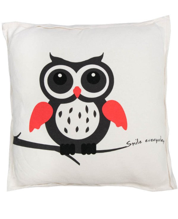 Home decor - Decorative pillow Owl with open eyes - Day (45 * 45 cm)