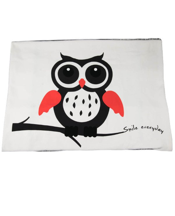 Home decor - Plaid - Owl with open eyes - Day (180 * 130 cm) Owl - Smile everyday