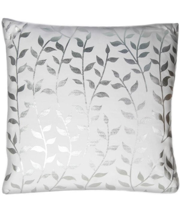 Home decor - Decorative pillow Silver leaves (45 * 45 cm)