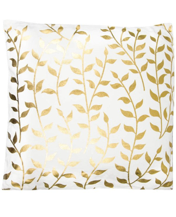 Home decor - Decorative pillow Golden leaves (45 * 45 cm)
