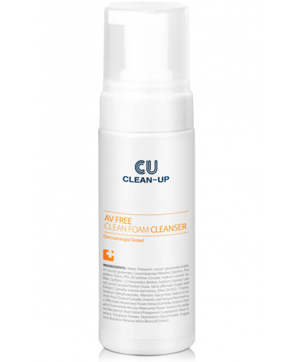 CU Skin - Cleansing Foam for Problem Skin Clean Up Av Free Clean Foam Cleanser 150ml
