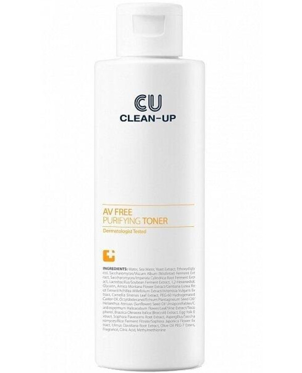 CU Skin - Toner for problem skin Clean Up Av Free Purifying Toner 180ml