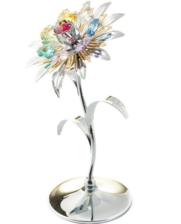 "Crystocraft - Figurine ""Flower silver"""