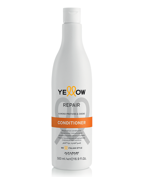 Yellow - Restorative conditioner for damaged hair Repair Almond Proteins & Cacao Conditioner