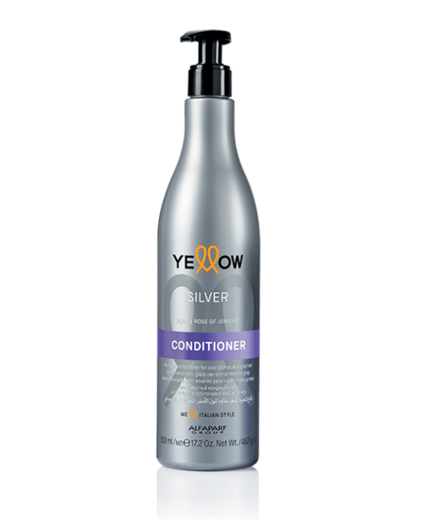 Yellow - Yellowness conditioner for light and gray hair Silver Acai & Rose of Jericho Conditioner 500ml