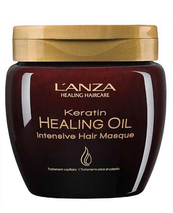 L'anza Lanza - Mask with keratin elixir Keratin Healing Oil Intensive Hair Masque 210ml