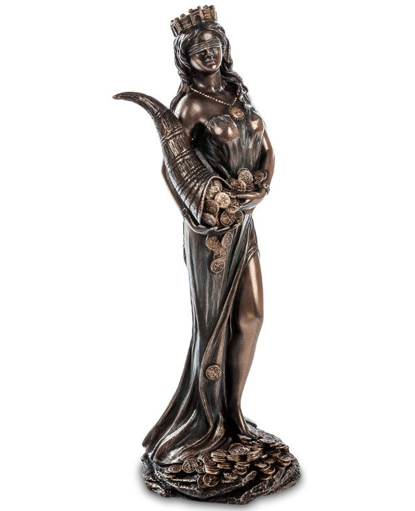 "Veronese - Figurine ""Fortune"" (18 cm) Ancient Roman goddess of luck and wealth Veronese"