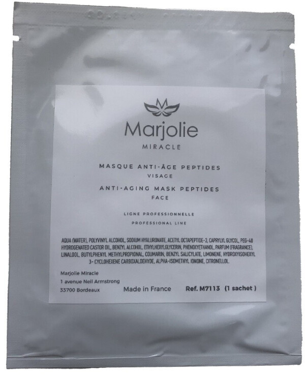 Marjolie - Peptic bio-cellulose mask with peptides Anti-Aging Mask Peptides Face