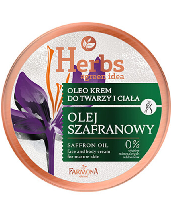 Farmona Herbs - Saffron oil cream for mature face and body skin Herbs Saffron Oil