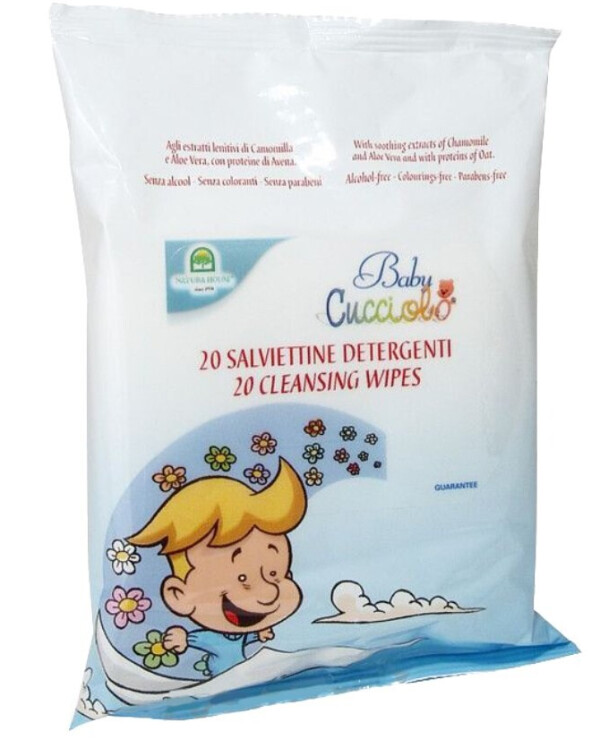 Natura House - Cleaning wet wipes Cucciolo Baby Cleansing Wipes up to 40 pcs