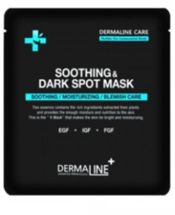 Dermaline - Mask calming and smoothing skin tone Soothing & Dark Spot Mask