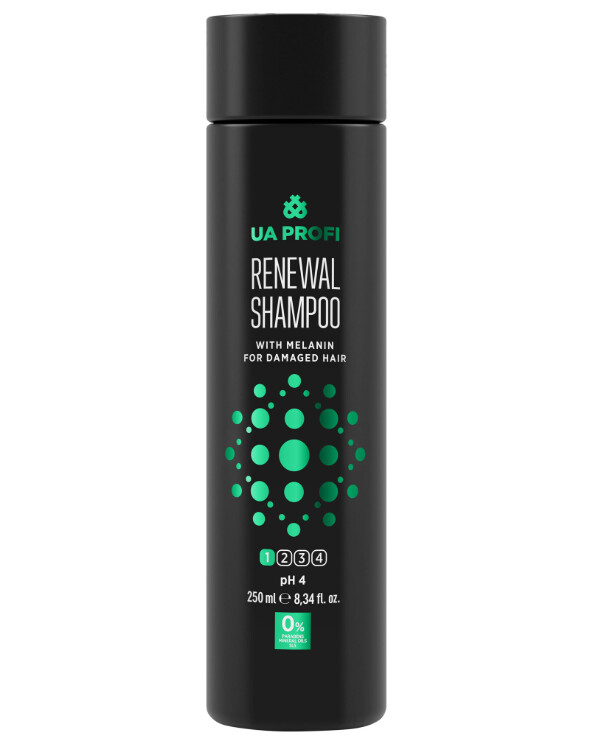 UA Profi - Shampoo Recovery with melanin, pH 4 Renewal Shampoo 250ml
