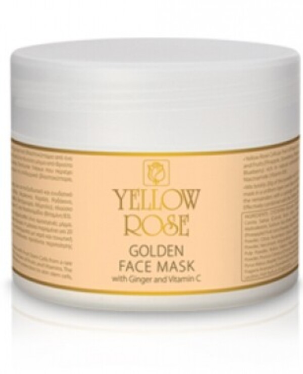 Yellow Rose - Alginate mask with gold Golden Line Face Powder Mask