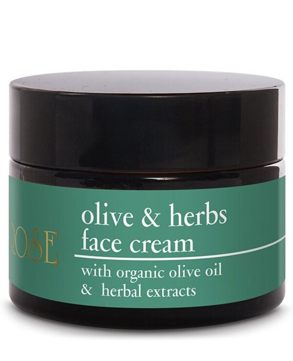 Yellow Rose - Moisturizing and nourishing face cream with organic olive leaf oil Olive & Herbs Cream