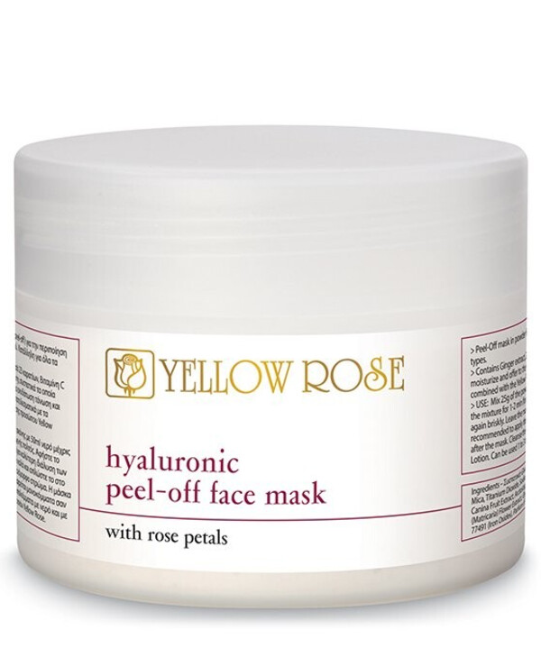 Yellow Rose - Alginate mask with hyaluronic acid and rose petals Peel-Off Face Mask with Rose Petals