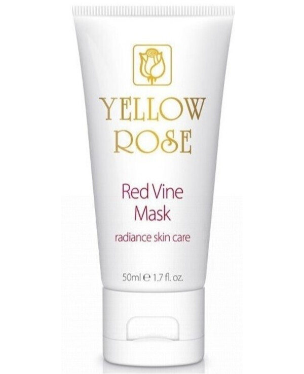 Yellow Rose - Mask with polyphenols of red grapes Red Vine Face Mask