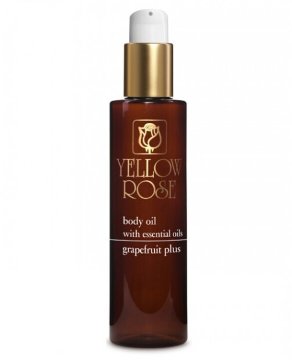 Yellow Rose - Massage oil with grapefruit and juniper essential oil Body massage oil with graperfruit 200ml