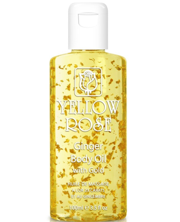 Yellow Rose - Massage Oil with Gold and Ginger Body massage oil Ginger + Gold 500ml