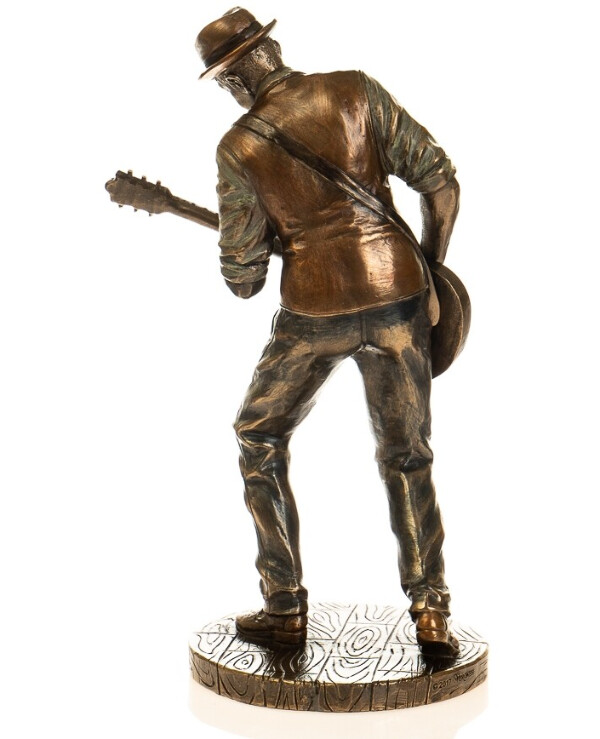"Veronese - Figurine ""Guitarist Robert Leroy Johnson"" (20 cm)  Bronze back"