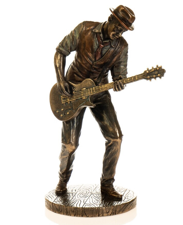 "Veronese - Figurine ""Guitarist Robert Leroy Johnson"" (20 cm)  Bronze"