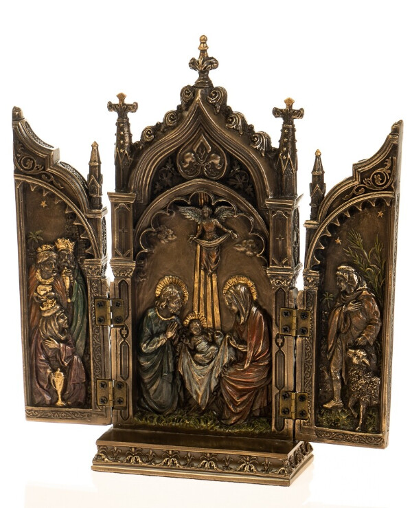 Veronese - Icon 2 fold, folding (22 cm)  Bronze back
