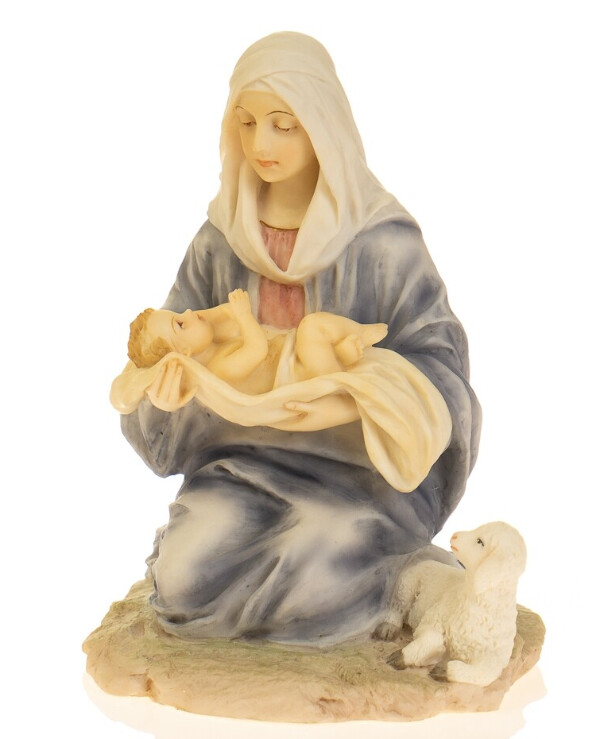 "Veronese - Figurine ""Mary and Child"" (16 cm)  Gray"