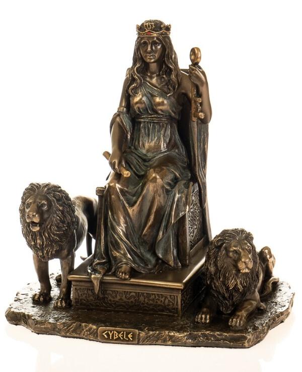 "Veronese - Figurine ""Cybele Goddess with Lions"" (19 cm)  Bronze"