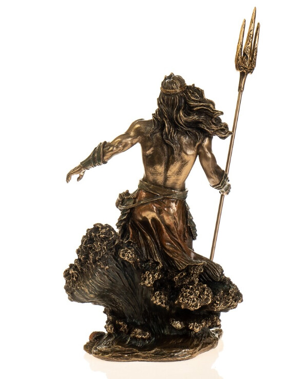 "Veronese - Figurine ""Lord of the Seas - Poseidon"" (21 cm)  Bronze back"