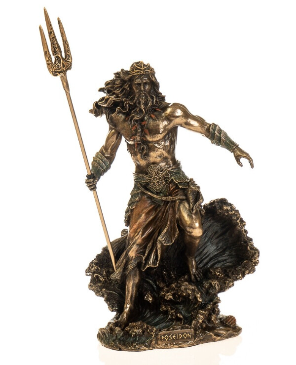 "Veronese - Figurine ""Lord of the Seas - Poseidon"" (21 cm)  Bronze"