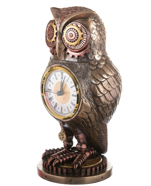 Veronese - Owl watch (26 cm)  Bronze