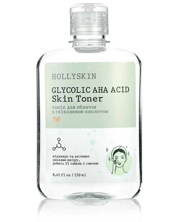 Hollyskin - Glycolic Acid Facial Toner Glycolic AHA Acid Skin Toner 250ml