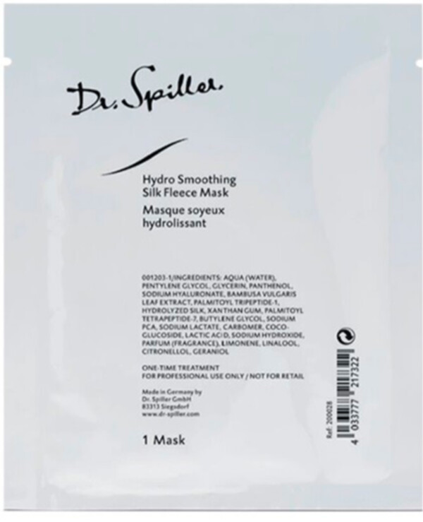 Dr. Spiller - Smoothing and moisturizing fleece mask with silk proteins Hydro Smoothing Silk Fleece Mask 1pc