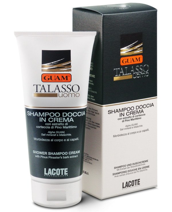 Guam - Creamy salt-gel for hair and body Uomo Shampoo Doccia in Crema
