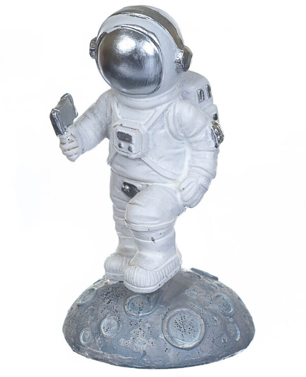 Statuettes - Figurine On the moon 11 cm  White